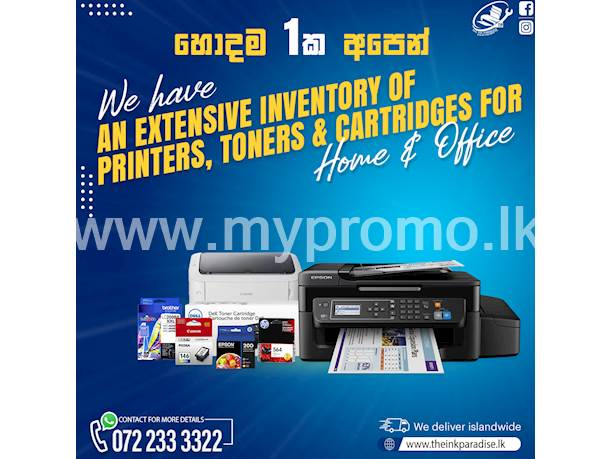 Printers , Toners, Inks and cartridges for sale