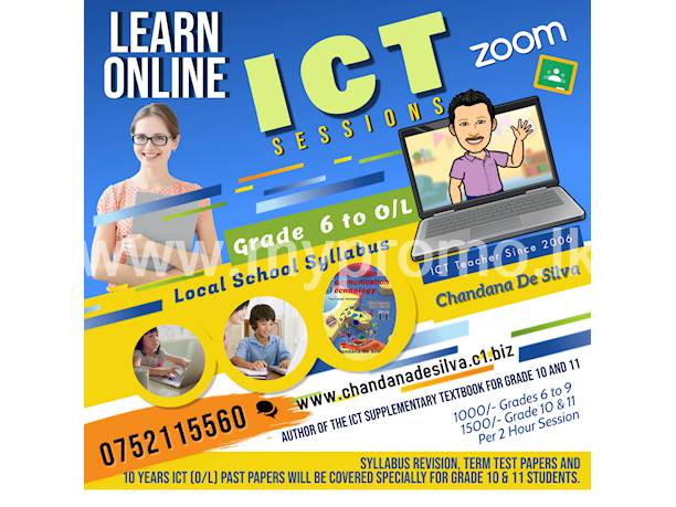 💻 OnLine ICT Zoom Classes for Grade 6 - 11