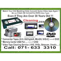 VHS Video Cassette Tapes Cleaning and DVD Blueray USB HDD Recording Capturing