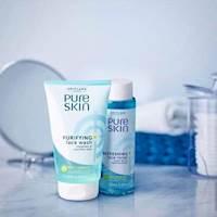 Pure skin face wash and toner