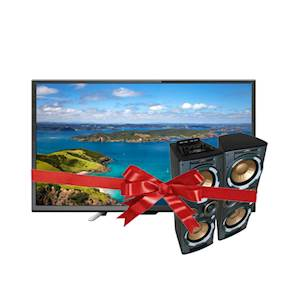 JVC 43 Inch LED Television LT-43N550 with JVC Dual Active Speakers Audio System JVC-MX-PH3000