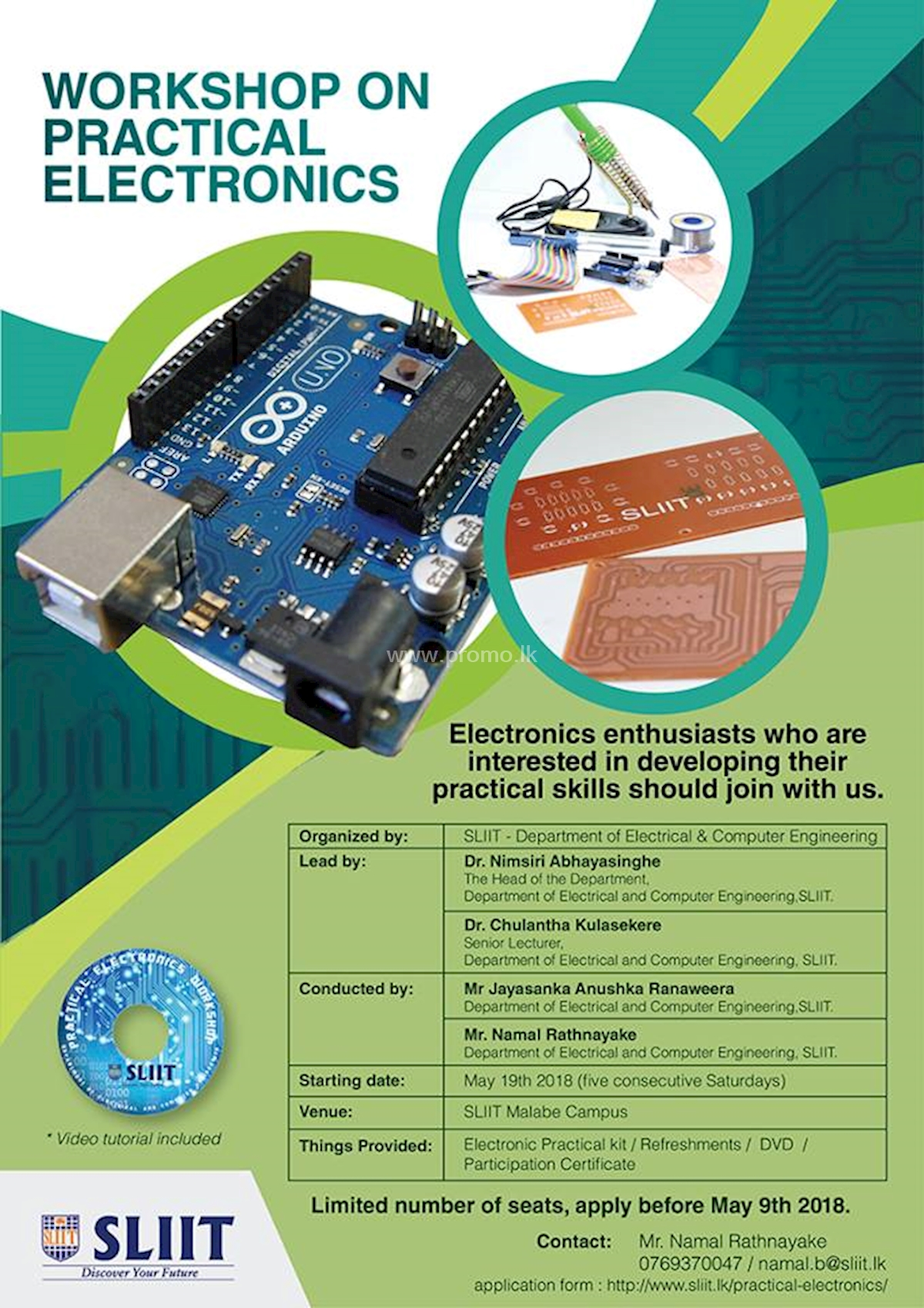Workshop on Practical Electronics at SLIIT Malabe Campus