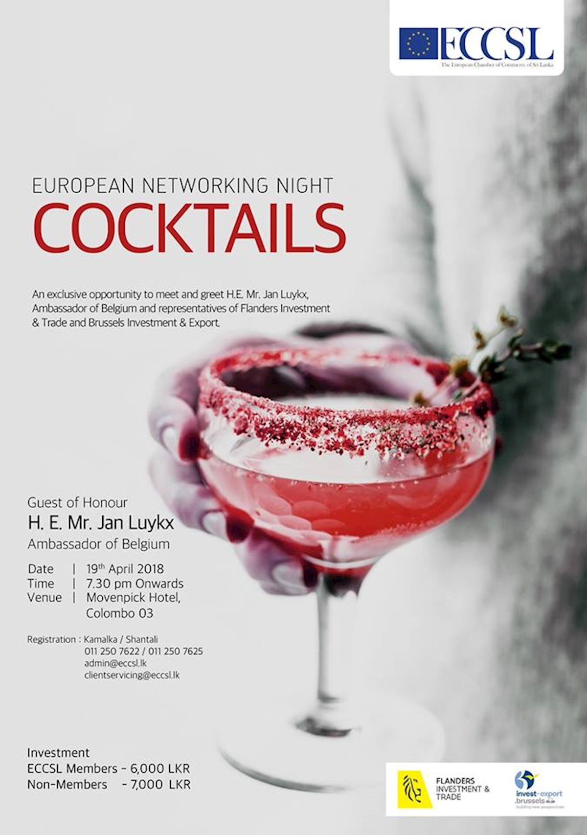 European Networking NIGHT - Cocktails at Movenpick Hotel