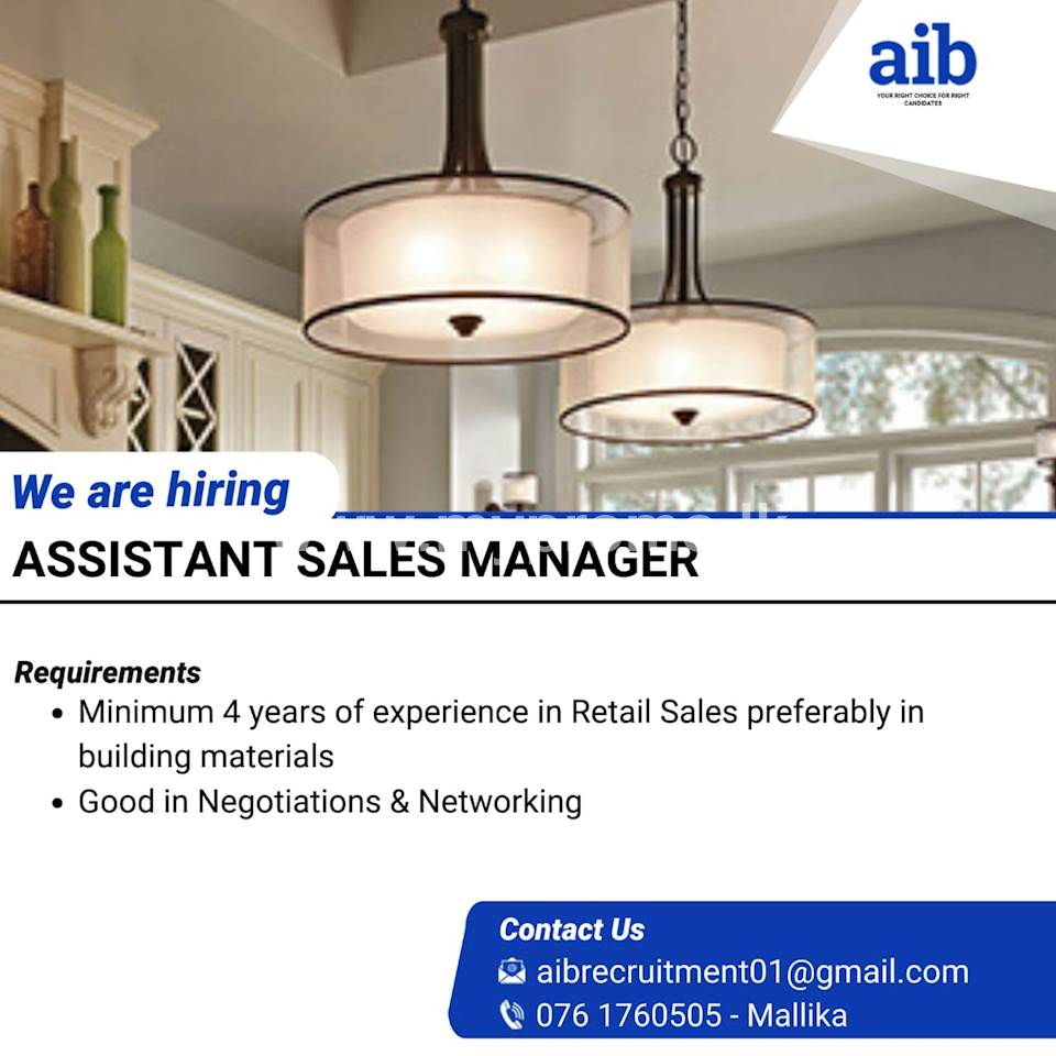 Sales Manager - Retail