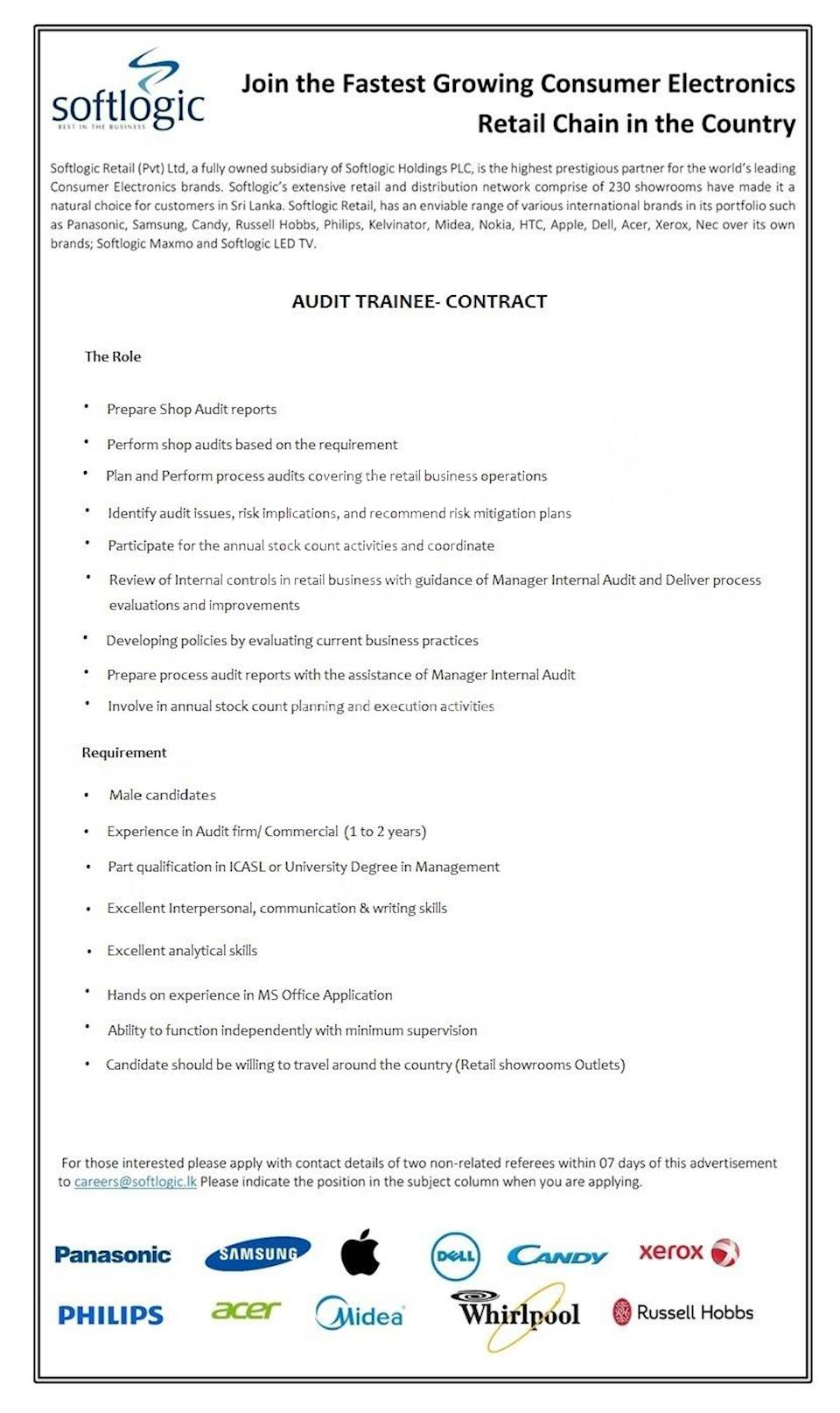 Audit Trainee - Contract