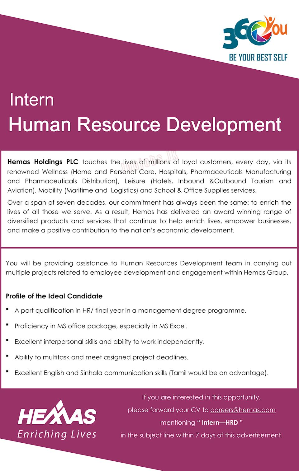 Intern - Human Resource Development