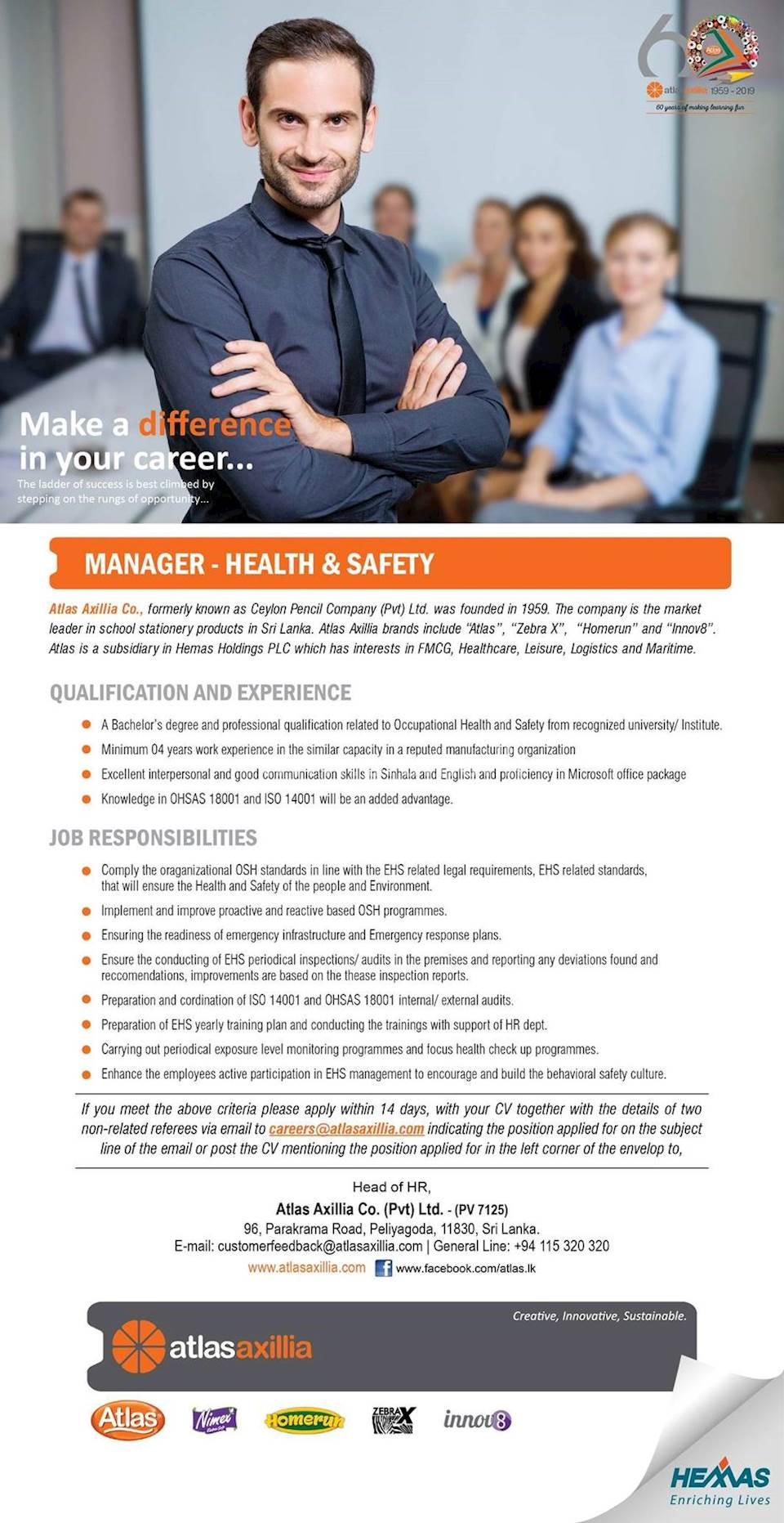 Manager - Health & Safety