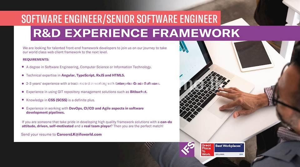 Software Engineer / Senior Software Engineer