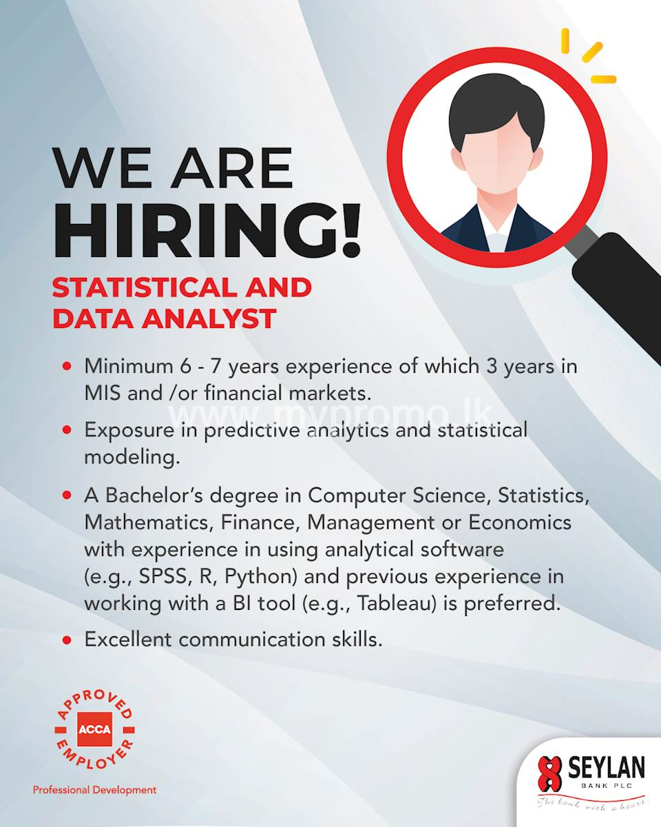 Statistical and Data Analyst