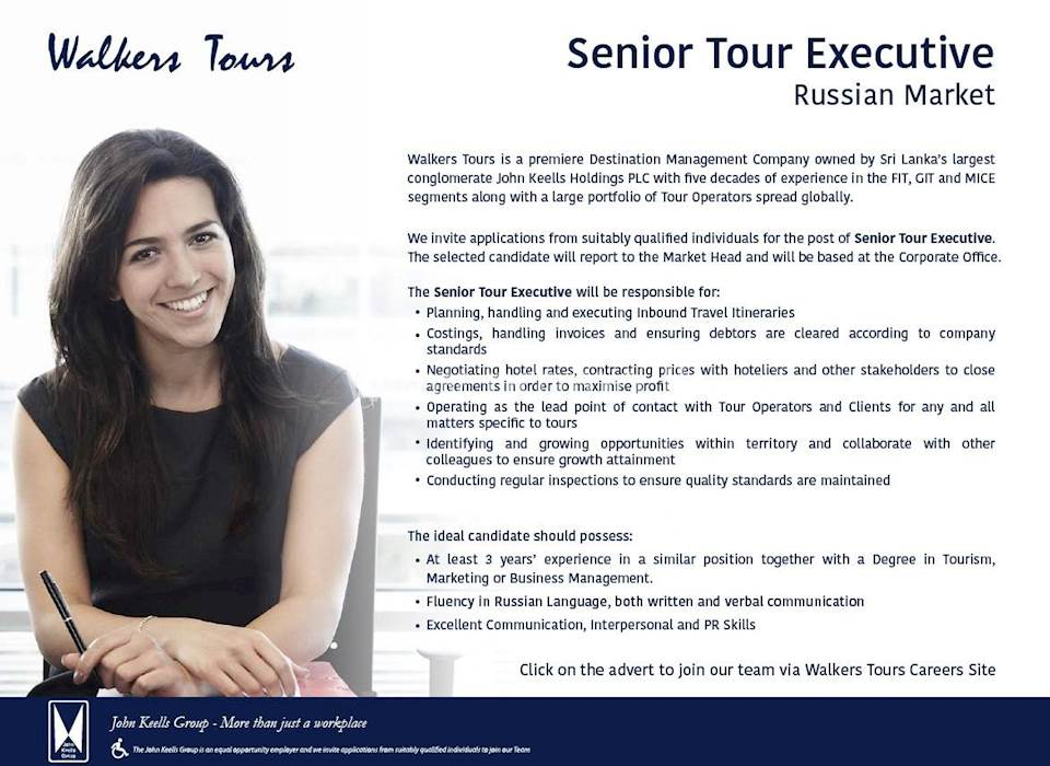 Senior Tour Executive - Russian Market