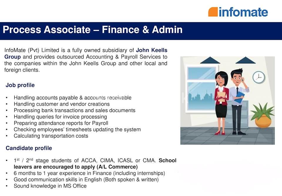 Process Associate - Finance and Admin