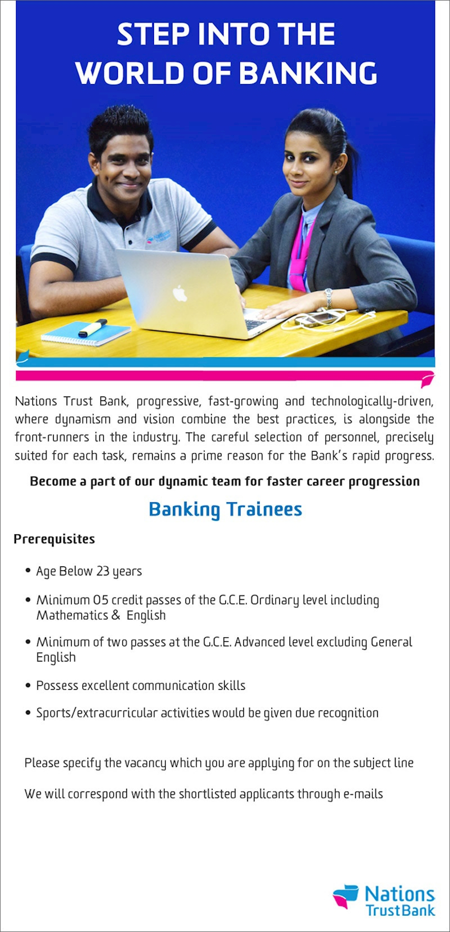 Banking Trainees