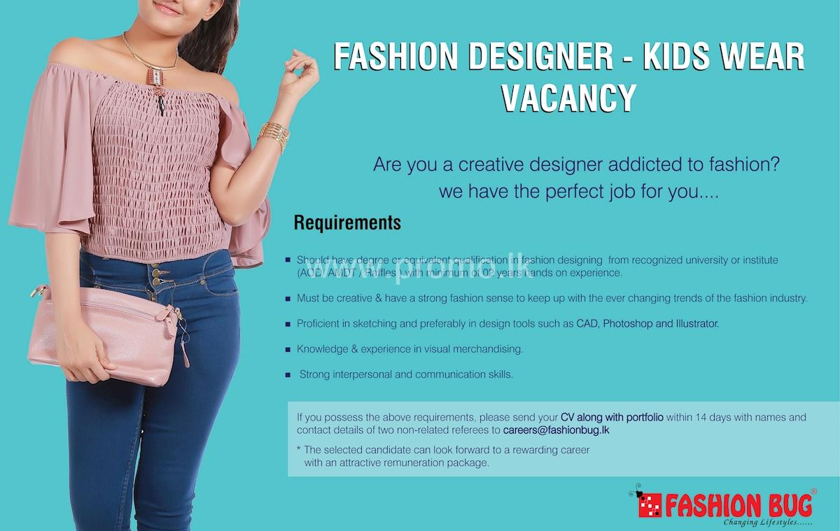 Fashion Designer Kids Wear Vacancy At Fashion Bug