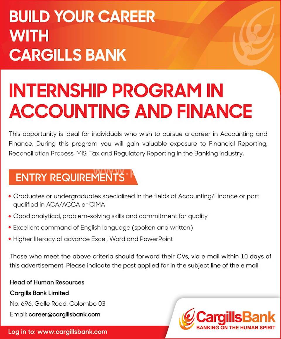 Internship Program in Accounting and Finance