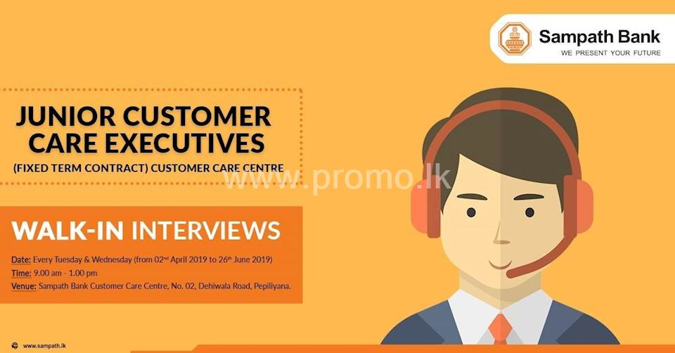 Junior Customer Care Executive - Walk-In Interviews