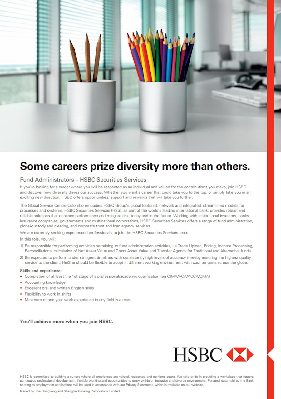 Fund Administrators - HSBC Securities Services at HSBC Sri Lanka