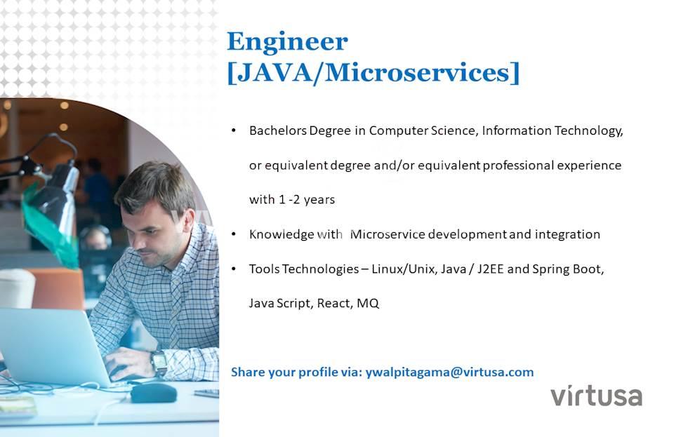 Engineer (Java / Microservices)
