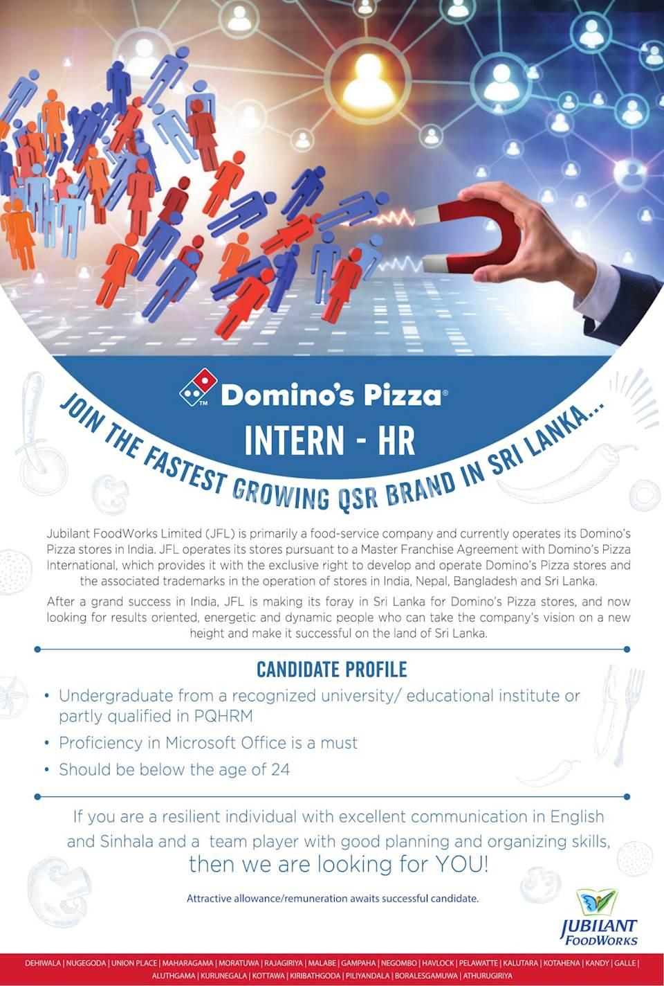 Intern - HR at Domino's Pizza