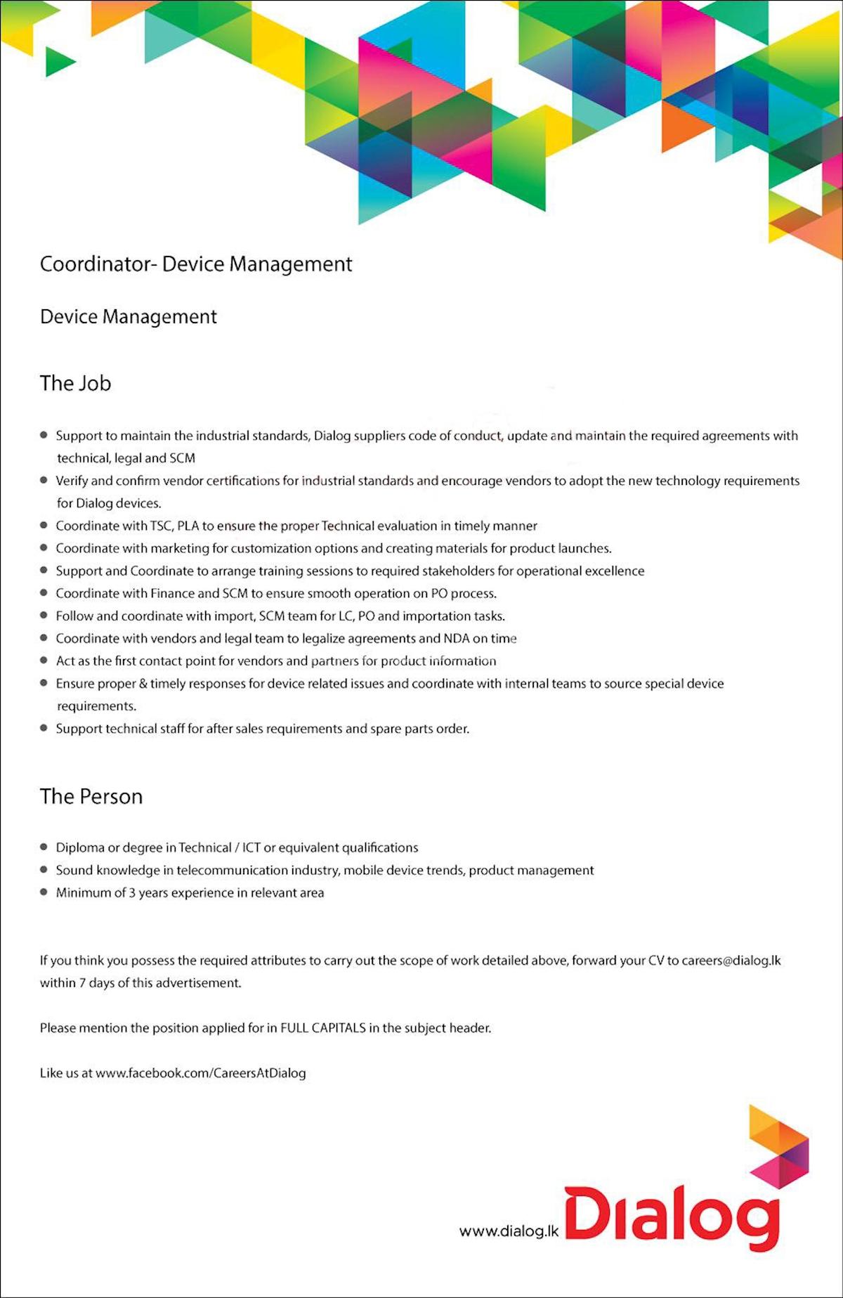 Coordinator - Device Management