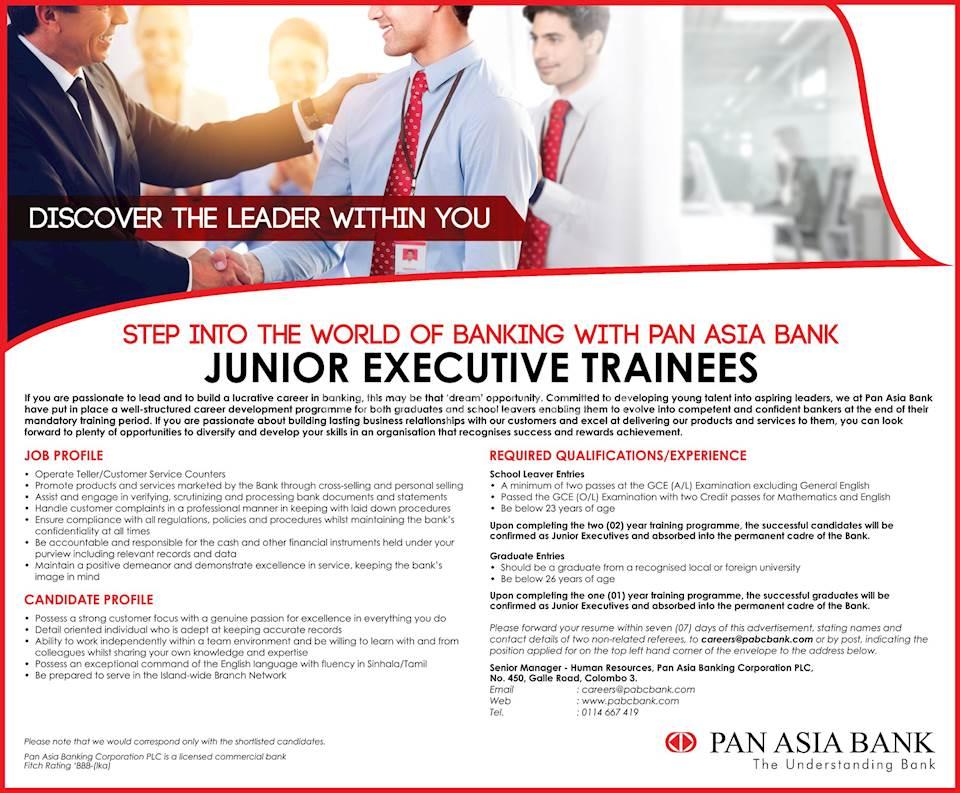 Junior Executive Trainees