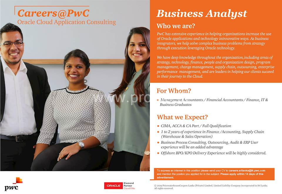 Business Analyst at PWC
