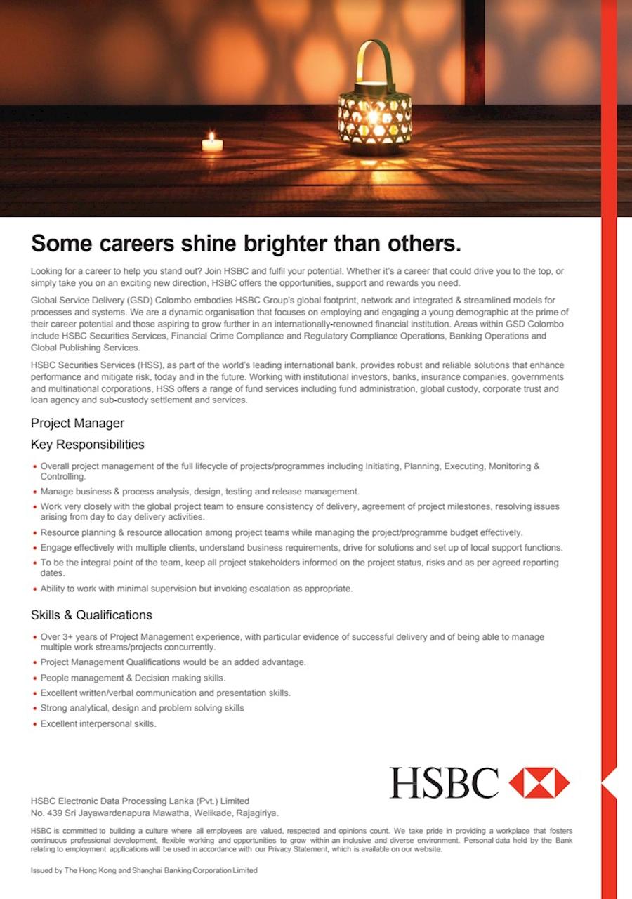 Project Manager at HSBC Sri Lanka