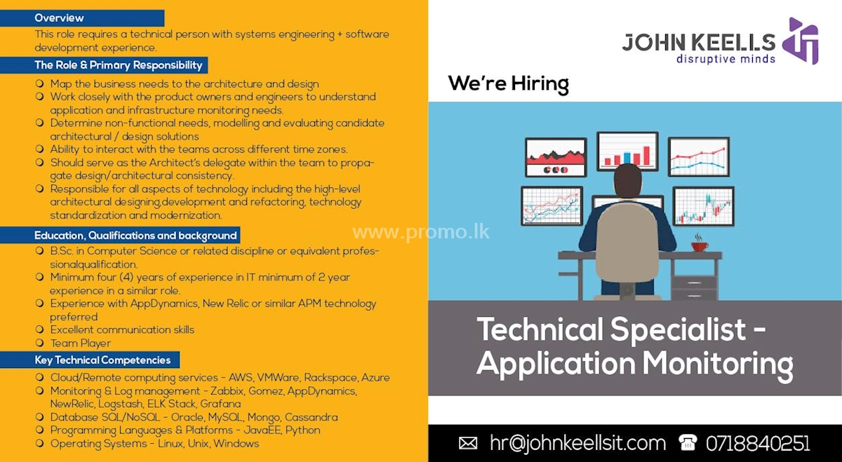 Technical Specialist - Application Monitoring