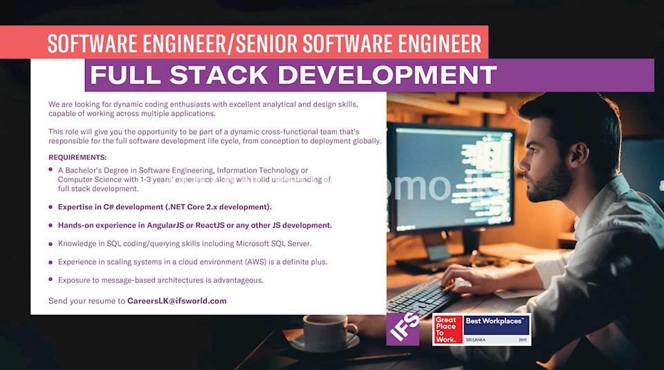 Software Engineer / Senior Software Engineer - Full Stack Development