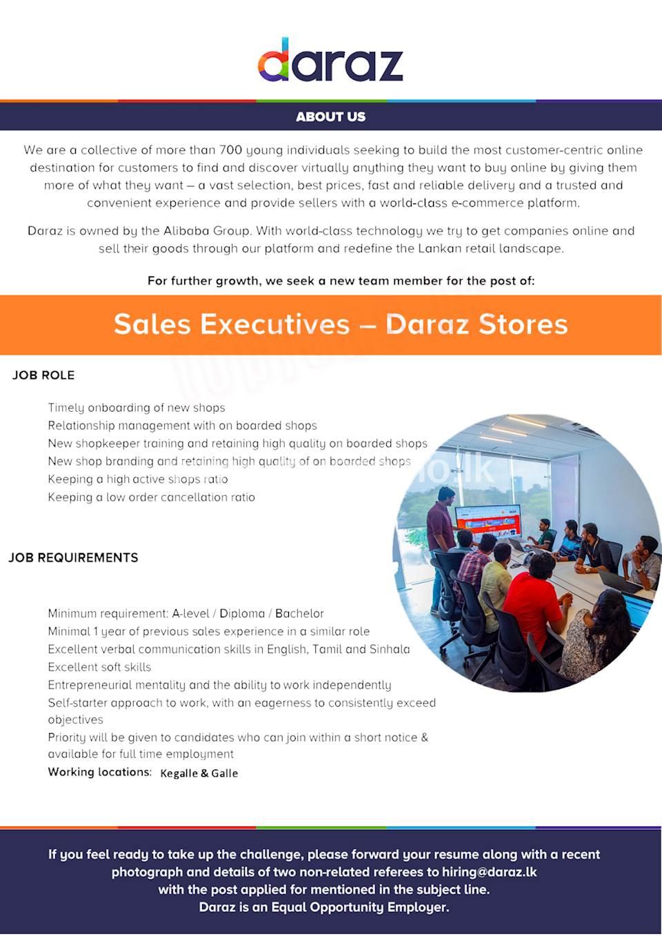 Sales Executives - Daraz Stores
