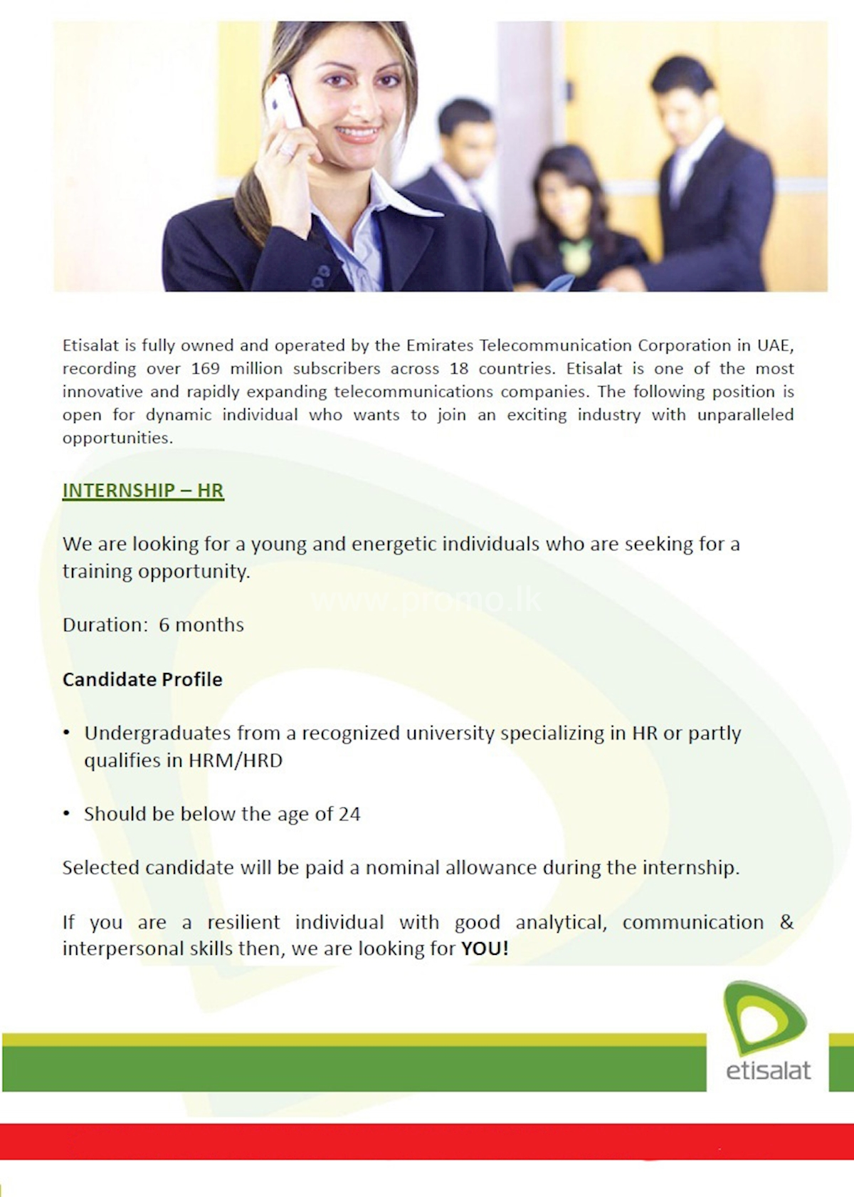 Internship - HR at Etisalat
