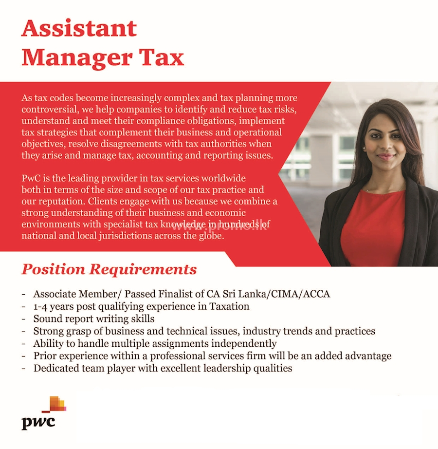 Assistant Manager Tax