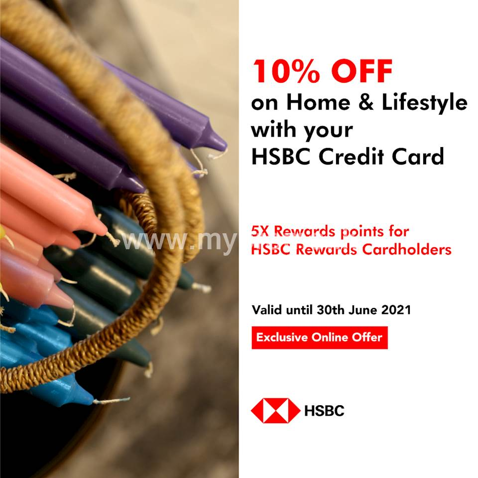 Enjoy 10% off and 5x rewards points on Home and Lifestyle products at ODEL when you shop with your HSBC credit card on ODEL.LK!