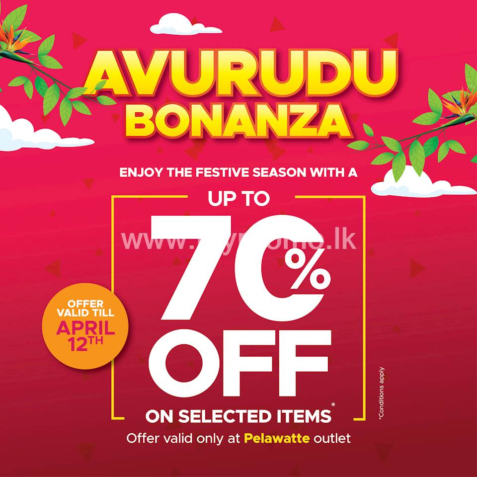 Enjoy up to 70% OFF on Selected Items at Urban Trendz for this avurudu season