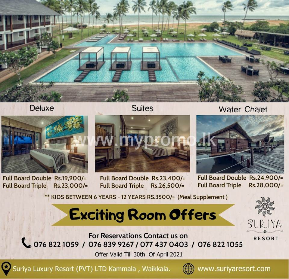 Exciting room offers at Suriya Resort