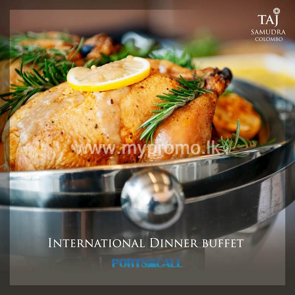International dinner buffet at Taj Samudra