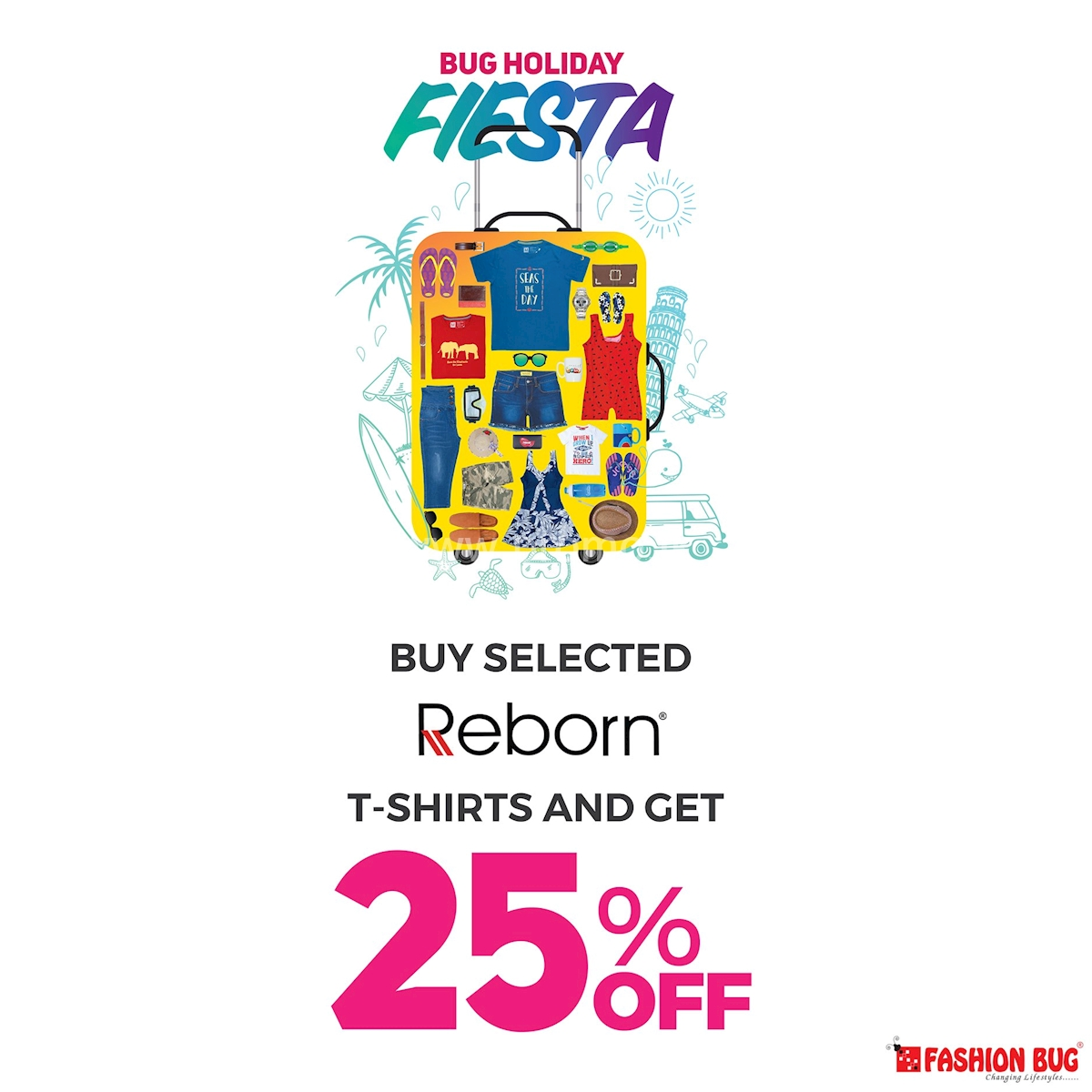 Buy selected Reborn T-Shirts and get 25% Off at Fashion Bug