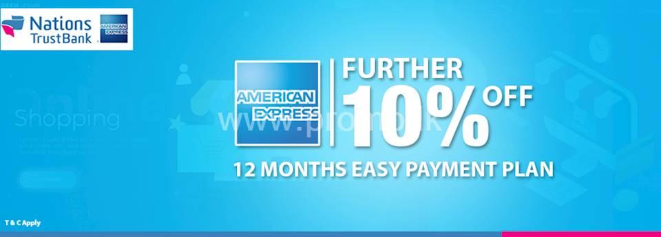 Further 10% OFF NTB AMEX Card