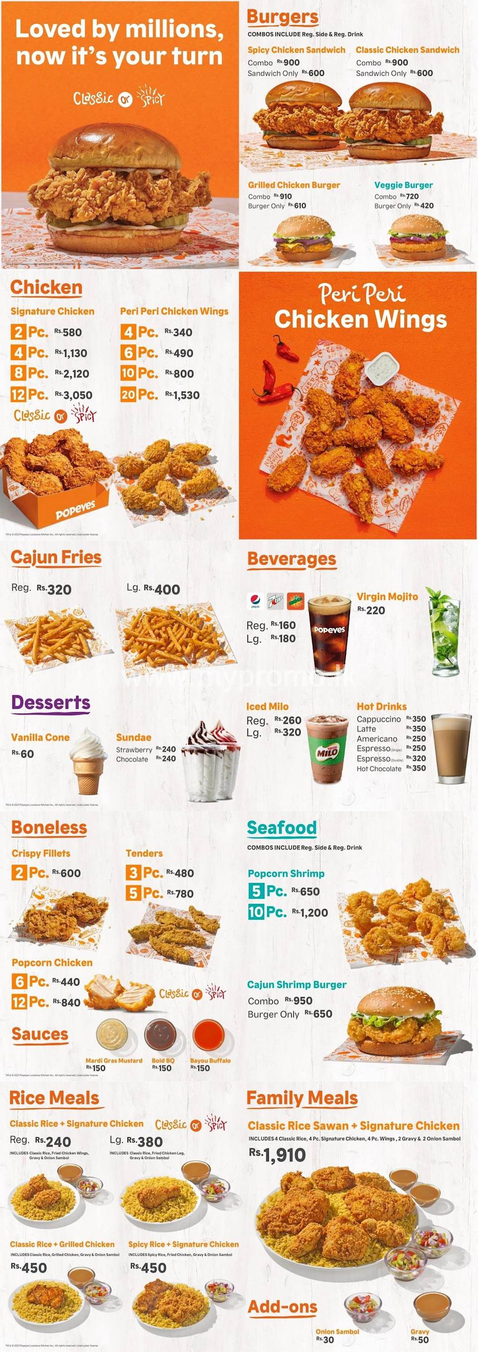 Popeyes Sri Lanka Promotions and Offers