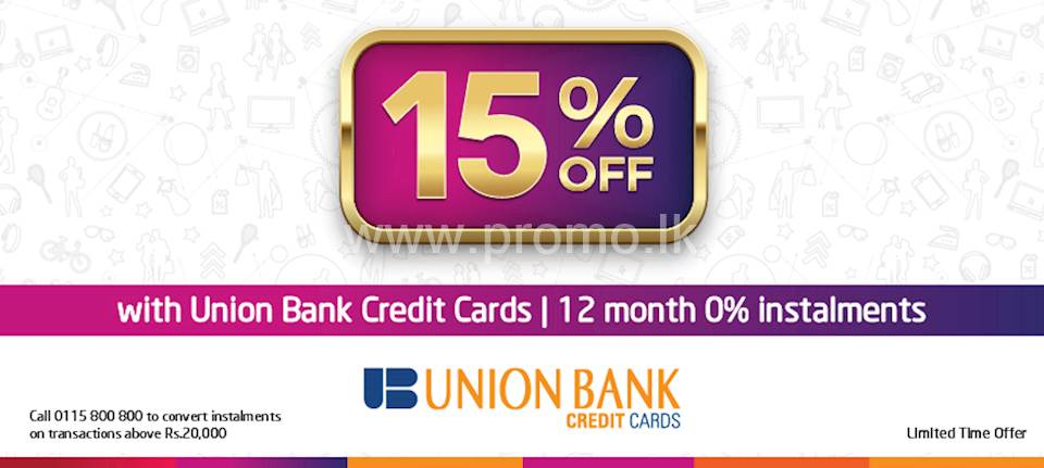 15% Off at wOw.lk with Union Bank Credit cards