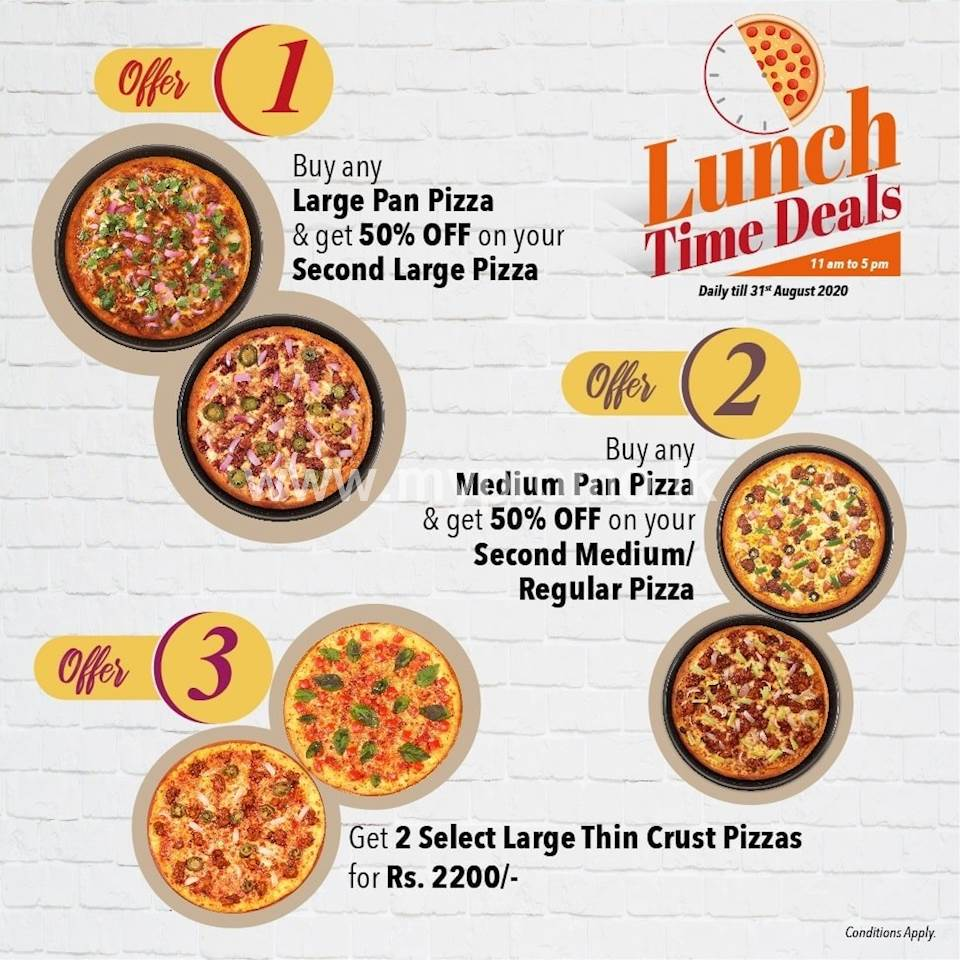 Lunch Time Deal at Pizza Hut