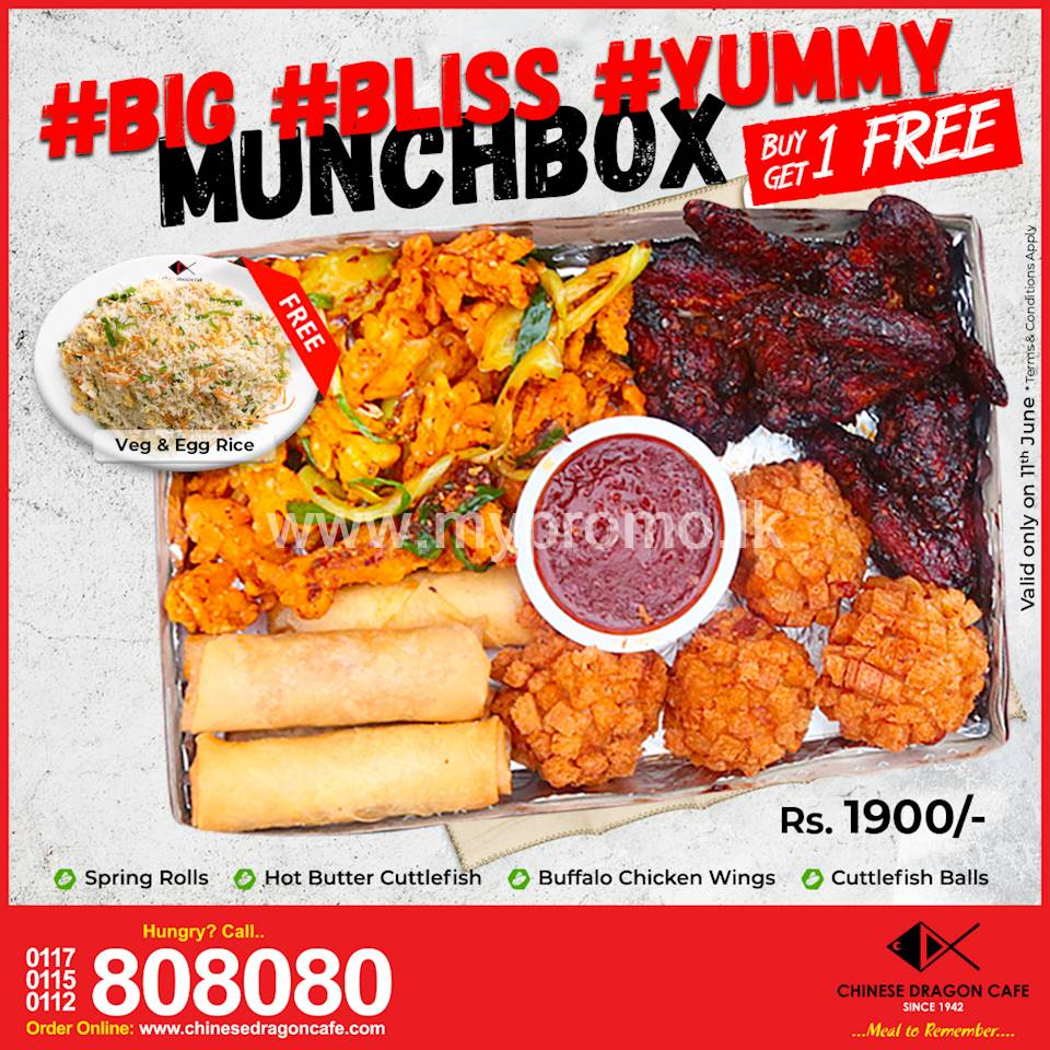 Friday Munchbox Madness (Rs. 1900/ for 4) at Chinese Dragon Cafe!!!