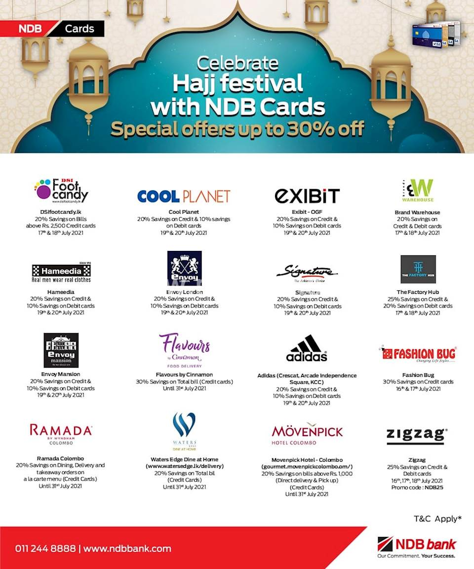 Celebrate Hajj festival with NDB cards!