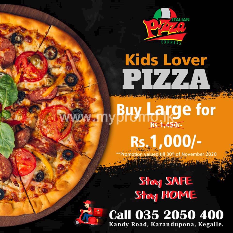 Buy A large Pizza for Rs. 1000 at Italian Pizza Express