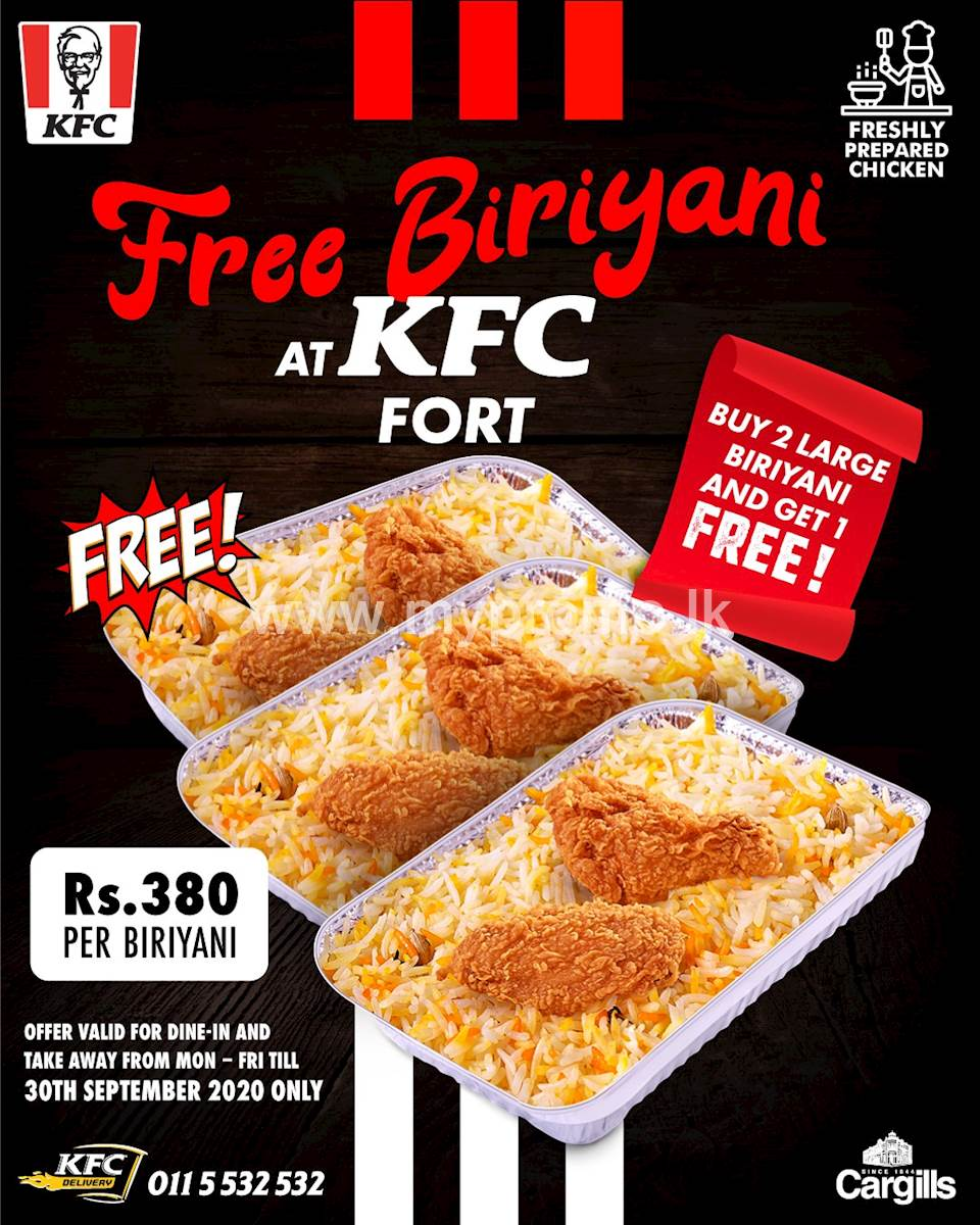 It's FREE Biriyani at KFC Fort
