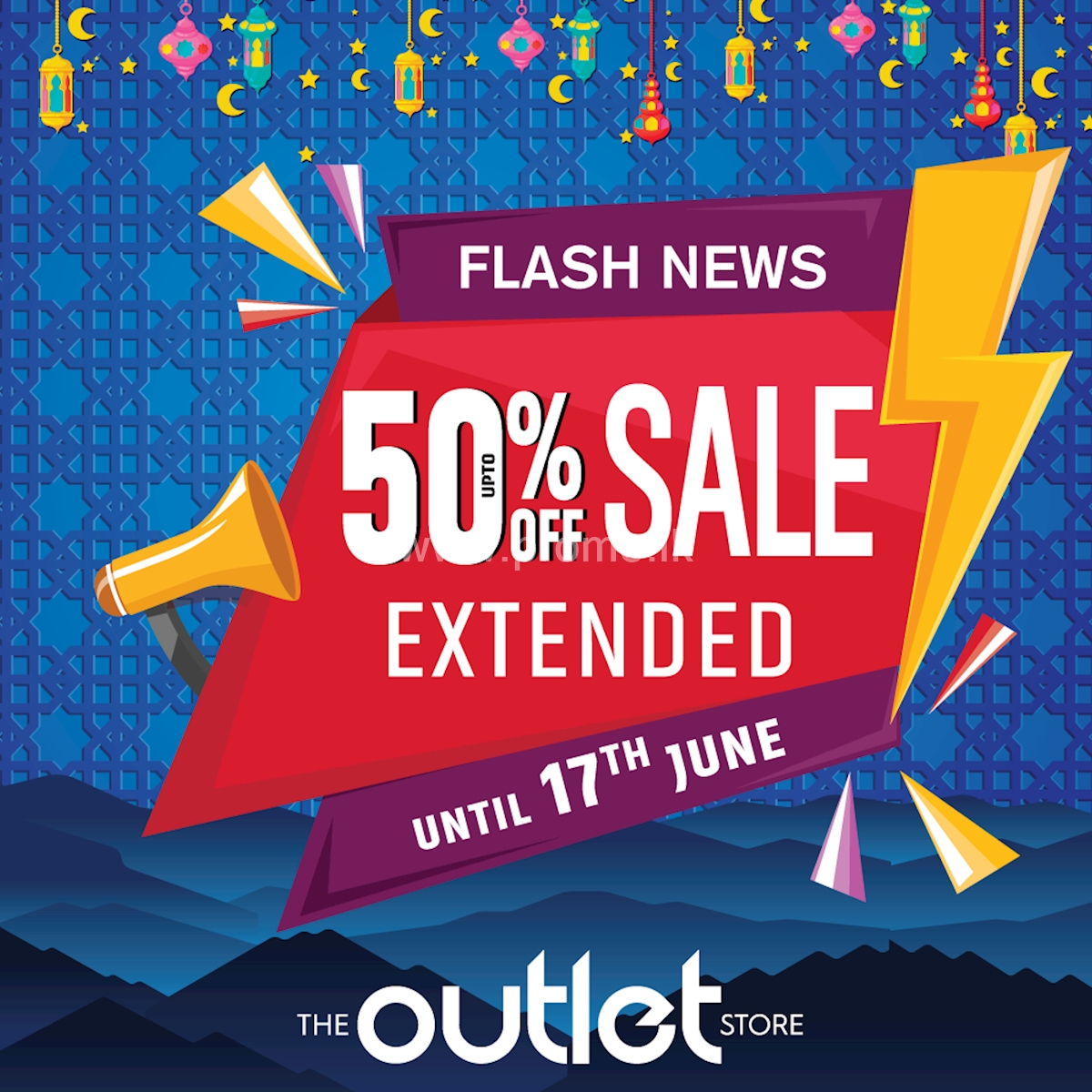 50% Off Extended Sale at The Outlet Store