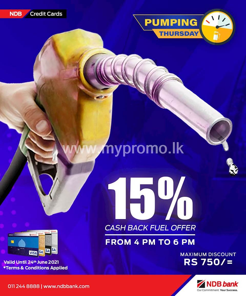15% Cashback when you pump Fuel Every Thursday from 4pm - 6pm with NDB Credit Cards