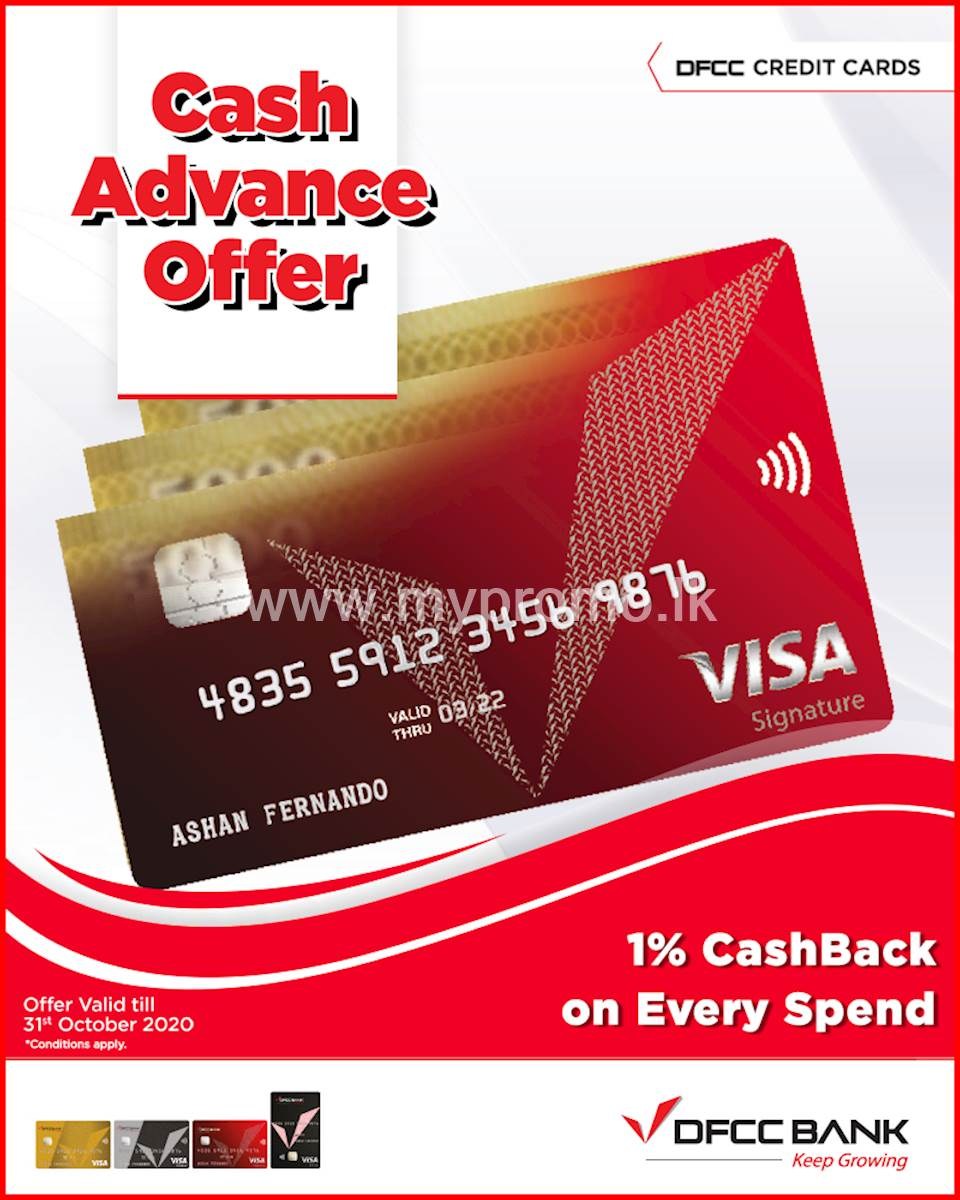 Take a Quick Cash Advance and Pay Later with DFCC Credit Cards!