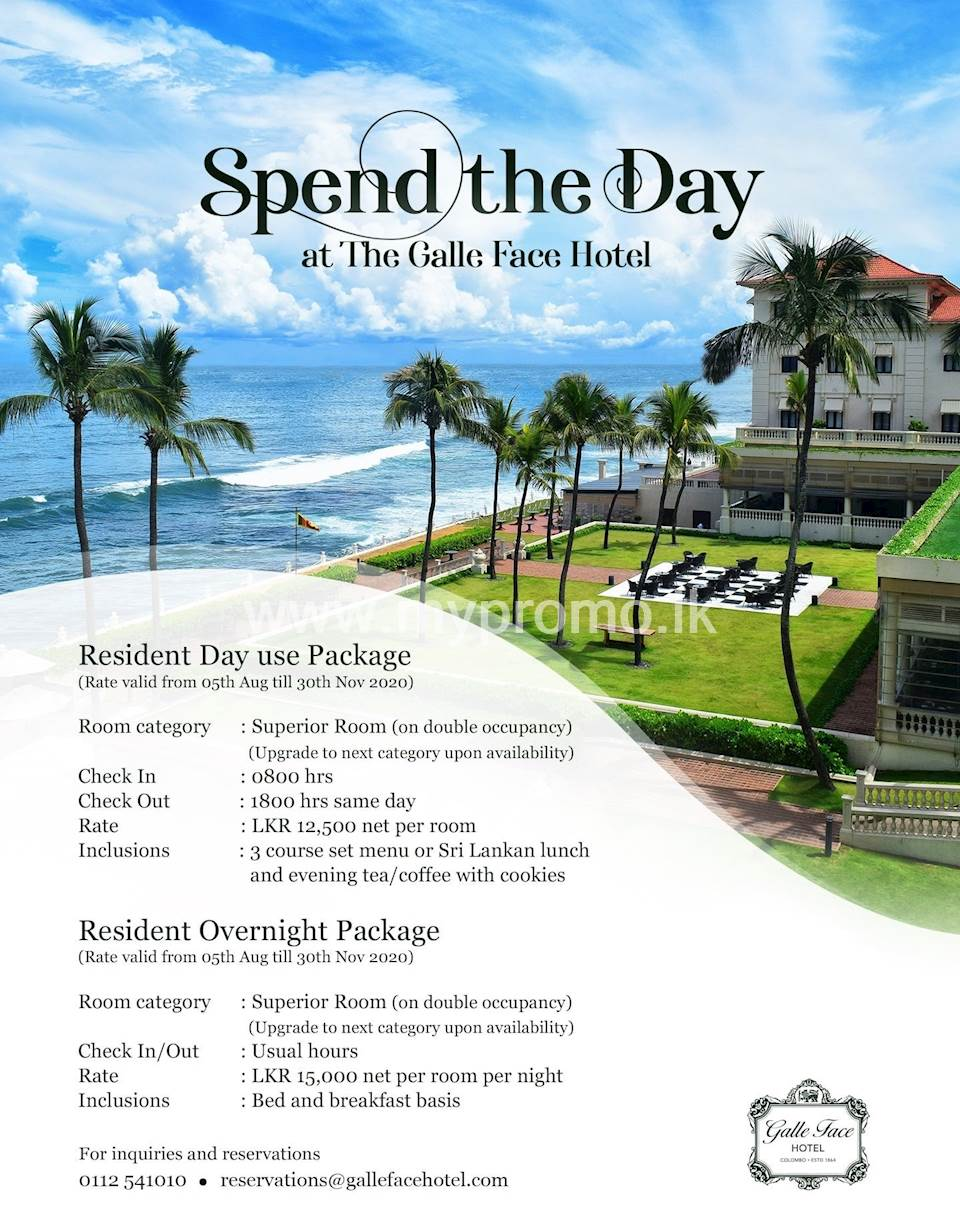 Spend the day at Galle Face Hotel