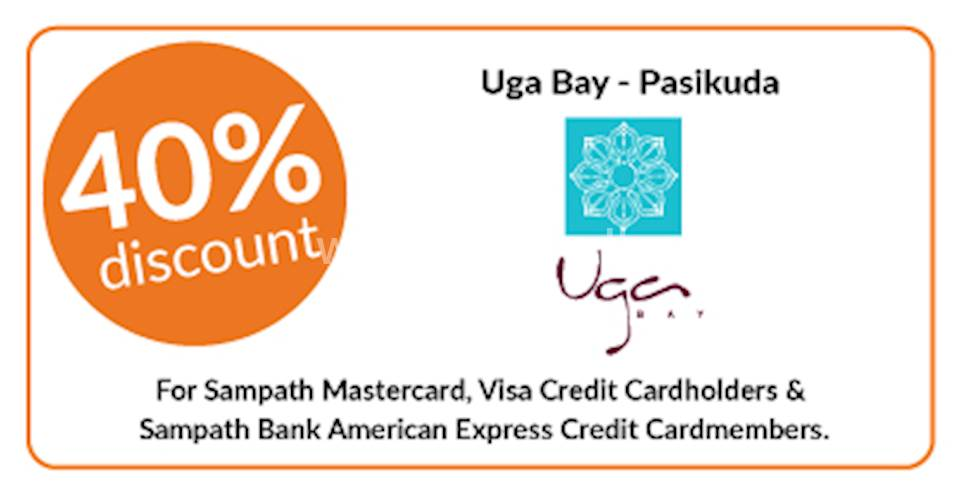 40% discount on double & triple room bookings at Uga Bay, Pasikuda exclusively for all Sampath Bank Credit Cards