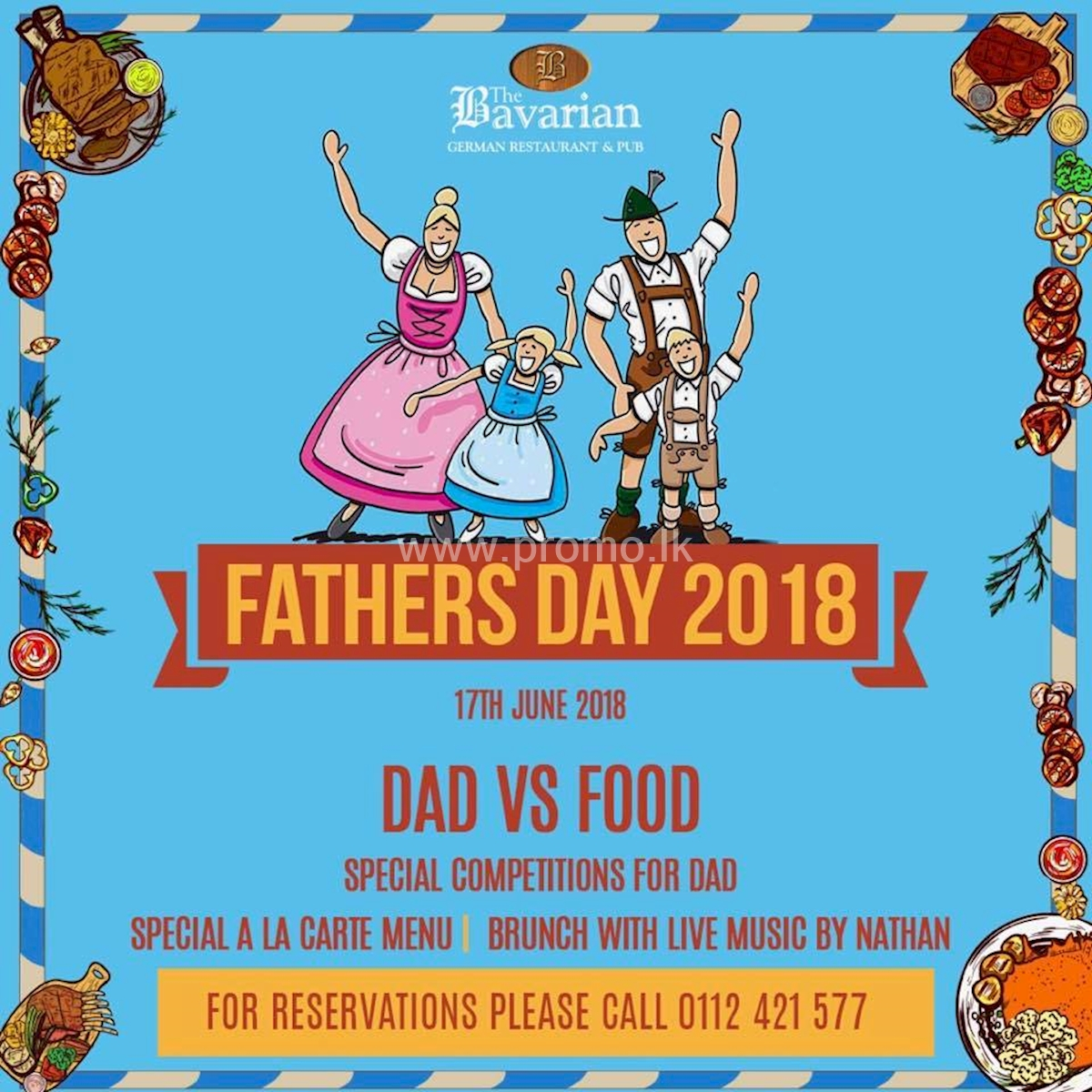 Special Brunch for your Dad at The Bavarian German Restaurant